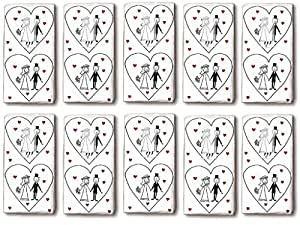 10 Packungen = 100 Taschentücher Marriage - Für die Freudentränen