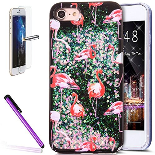 iPhone 6 Coque de protection, iPhone 6s Motif Coque en TPU, CE iPhone 6S Coque Bling, iPhone 6 Coque en silicone, iPhone 6s 11,9 cm Paillettes Bling TPU souple pour iPhone 6, iPhone 6s Or Poudre Coque A Magic Liquid 8