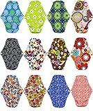 Damenbinde, wiederverwendbare Damen-Slipeinlage, Bambustuch, Mama-Menstruations-Windeleinlage, 25,5 cm x 18 cm