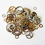 Piezas de reloj de 100g joyas de steampunk alterado arte artesanía cyberpunk engranajes engranajes ETC