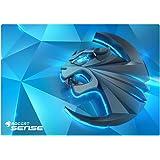 ROCCAT Sense Kinetic High Precision Gaming Mousepad (Mikrokristallbeschichtung, Größe: 400 x 280 x 2 mm), blau/schwarz