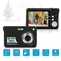 Digitalkamera, Foto Kamera Digital 2,7 Zoll 18 MP HD Mini Digitalkameras mit 8X Digitalzoom…