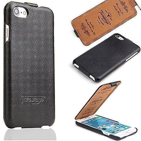 iPhone 7 Schutzhülle - ECHT LEDER - HANDGEFERTIGT - Zubehör Case Etui IPhone Flip Case Schutzhülle von TWOWAYS - Farbe