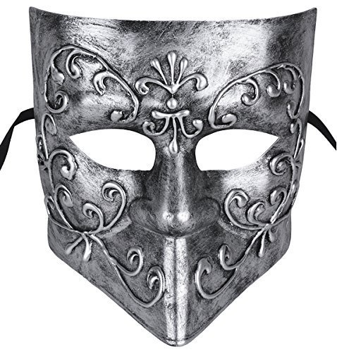 Kapmore Herren Maskerade Maske Halloween Kostüme Mardi Gras Maske mit (Maske Blume)