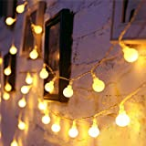 Kueh Extendable 10Metre 80LED Christmas String Lights, Waterproof Clear Wire Twinkle Lights for Indoor & Outdoor Use,Garden,