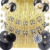 SUNBEAUTY Silvester Deko Neujahr Party Happy New Year Banner Neujahreszeit Dekorationen New Year's Deco (Türvorhang)