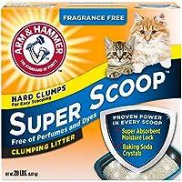 رمل القطط القابل للتكتل سوبر سكووب (خالٍ من العطور) 9.7 كغم