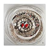 Arte Dal Mondo AS401X1 Abstrakt Acryl Gemälde auf Leinwand von Hand dekoriert Wandverzierung, mehrfarbig, 100 x 100 x 3,5 cm