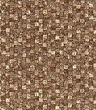 Selbstklebende Folie Tapete Klebefolie für Möbel Küche Tür Schrank & Deko Fototapete Stein Steinoptik Mosaik Mosaikoptik rustikal dunkel braun Möbelfolie Küchenfolie Türfolie Schrankfolie Selbstklebefolie Dekorfolie Designfolie I d-c-fix Aragon [200 x 67,5cm]