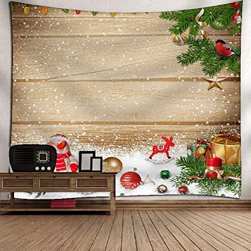 Lucky store arazzo di natale decorazione natalizia festival in tessuto modello argento appeso a parete romantico regalo di arte muraria 150x130cm, regalo