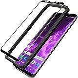 L K Schutzfolie für Samsung Galaxy S9 Plus/Samsung S9+, S9 Plus Panzerglas [9H Härte] [3D Abgerundete] [Hüllenfreundlich] [Einfache Installation] Gehärtetem Glas Displayschutzfolie - Schwarz