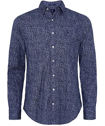 Gant Herren Regular fit Tweed-print-shirt Marine Marine