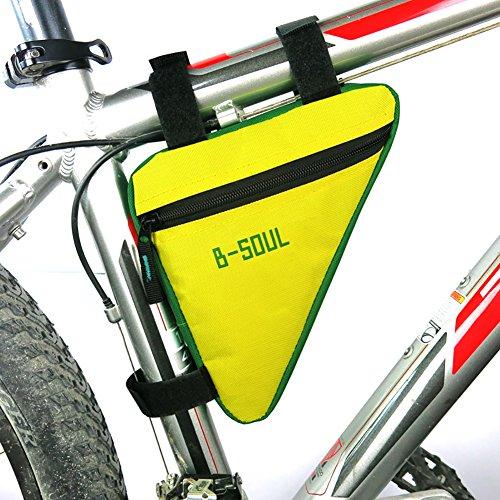 Riiya Radfahren Fahrrad Bike Bag Oberrohr Triangle Bag Front Sattelrahmen Pouch Au?en Green