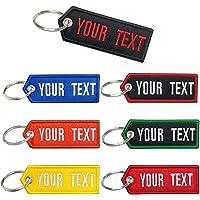 Brillian Portachiavi personalizzato, ricamo personalizzato con qualsiasi testo Ottimo portachiavi regalo, per moto da…