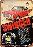 1969 Dodge Dart Swinger 340 Metall-Schild, Reproduktion, Vintage-Look