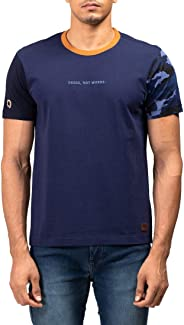 Royal Enfield Navy Cotton T-Shirt for Men Size (M) 40 CM (RLATSL000044)