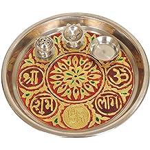 Shri Om Puja Thali–acero