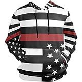 LDIYEU Bandera Negra De Estados Unidos Sudadera con Capucha Sudaderas Deportivas con Estampado 3D Impresión Camisa de Entrena