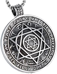 JAJAFOOK - Collar con colgante de amuleto, diseño de estrella judía de David, ...