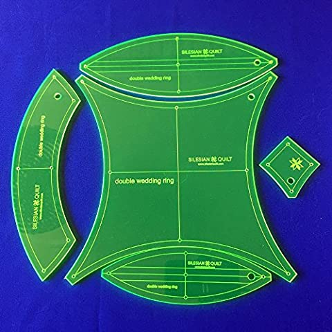 Template for Patchwork Double Wedding Ring