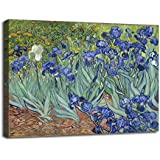 "Irises By Van Gogh - Van Gogh Famous Oil Paintings Art Print - ""Top 10 Van Gogh Paintings"" Collection - Medium Size Premium Quality Gallery Wrapped Wall Art Print On Canvas (14 Inches X 18 Inches) For Home And Office Interior Decoration By Talle"