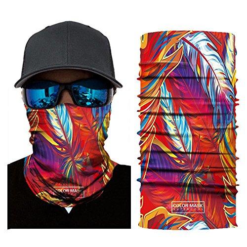 Wokee Bedrucktes Face Shields Multifunktionstuch Bandana Gesichtsmaske Sturmhaube,Maske fürs Motorrad,Fahrrad,Ski Snowboard Snowboard Halloween (A)