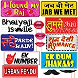 #6: Discount Retail Bollywood Style Wedding Party Prop Laser Cut Photo Booth Props DIY Kit for Party (15 Pcs)
