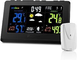 Stazione Meteo Houzetek, Stazioni Meteorologiche/ Stazione Meteo con Sensore Esterno Wireless Preciso con Schermo a...