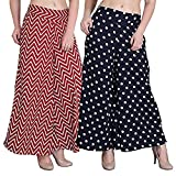 #7: Shmayra Regular Fit Women's Multicolor Palazzo Pants for Womens with Inner & Pocket Trousers Combo (Pack of 2) Plazo Pants for Girls/Womens Plazzo Pants for Women