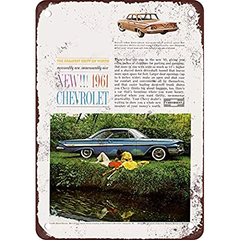 1961Chevrolet Biscayne Look Vintage Riproduzione in metallo Tin Sign 17,8x