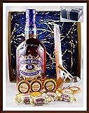Geschenk Chivas Regal 18 Jahre Scotch Whisky + Flaschenportionierer + 10 Edel Schokoladen von DreiMeister & DaJa + 4 Whisky Fudge kostenloser Versand