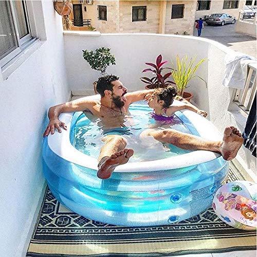 inflatable toys Sommer Neue Ovale Blauwal Pool Aufblasbarer Pool, übergroße Dicke Familienbad Doppelbadewanne Sand Pool Aufblasbare Spielzeuge, Geeignet Für Indoor-Outdoor-Garten - 163 * 107 * 46cm A