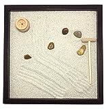 Jardín Zen de mesa 25x 252cm) de madera maciza wengué hecho artigianalmente hecha a mano-Producto de calidad, '