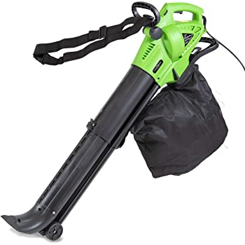Charles Bentley 3000W 3 in 1 Leaf Blower/Vacuum / Shredder With 45 Litre Collection Bag Electric 220V 6m Cable/Varied Speeds