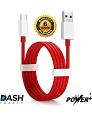 RSC POWER+ Dash Data Sync Fast Charging Cable Supported for OnePlus Devices and All C Type Devices(Red and White)