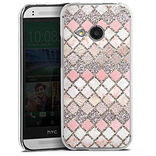 DeinDesign HTC One Mini 2 Hülle Case Handyhülle Mosaik Muster Glitzer Look