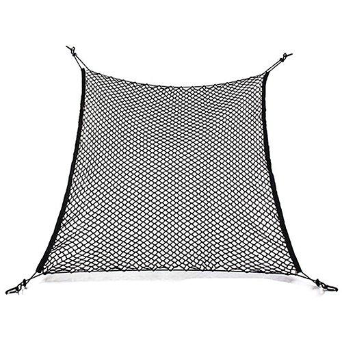 rete porta oggetti per portabagagli auto gemini_mall®, in nylon elastico flessibile, sostegno in rete per valigie, per auto, furgoni, suv, con 4ganci.
