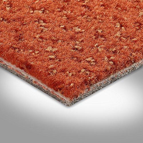 Vorwerk Premium gemusterter Velours-Teppichboden Auslegeware 7219140013 orange - 4m breit