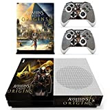 XBox One Slim + 2 Controller Aufkleber Schutzfolien Set - Assassins Creed Origins /One S