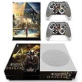 XBox One Slim + 2 Controller Aufkleber Schutzfolien Set - Assassins Creed Origins /One S