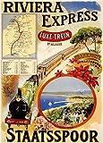 Vintage Travel Europa auf der Riviera Express Deluxe Zug