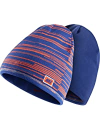 e5b4e26fe33b Nike Youth Unisex Junior Reversible Beanie hat Blue Orange