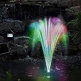 Deuba Solarpumpe Teichpumpe LED mit Akku Gartenteich Pumpe Springbrunnen Gartenbrunnen Wasserspiel