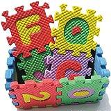 VANKER 36pcs del alfabeto Número de EVA espuma Puzzle Mats Bebé Niño enseñar a los niños las herramientas de juguete de regalo