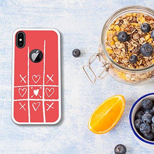 iPhone X Hülle, WoowCase Handyhülle Silikon für [ iPhone X ] Ninja Logo Handytasche Handy Cover Case Schutzhülle Flexible TPU - Transparent Housse Gel iPhone X Transparent D0428