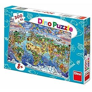 Dino Toys 472112 - Puzle con diseño de Mapa del Mundo (tamaño XL)