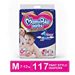 MamyPoko Pants Extra Absorb Diaper Monthly Jumbo Pack, Medium (Pack of 117)