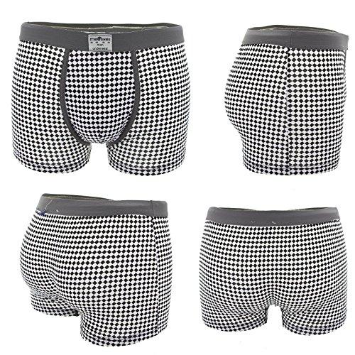 Packung mit 6 Stück Man Panties Boxermemoranden Unterwäsche elastischer Baumwolle sortierten Farben Neu Mehrfarben