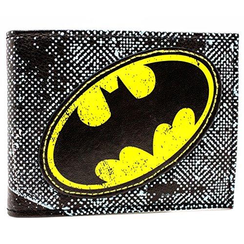 Cartera de DC Comics Batman Símbolo amarillo Azul