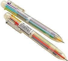 1 Pezzo articoli per ufficio - Naisicatar 6-in-1 retrattili Penne a sfera a 6 colori Penna a sfera Multicolor penne per...